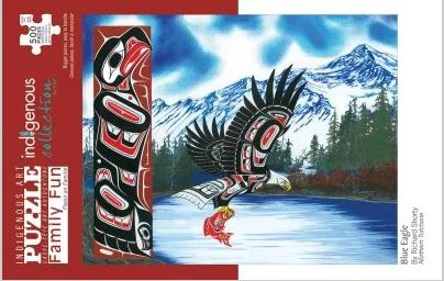 Indigenous Art Puzzle- Blue Eagle