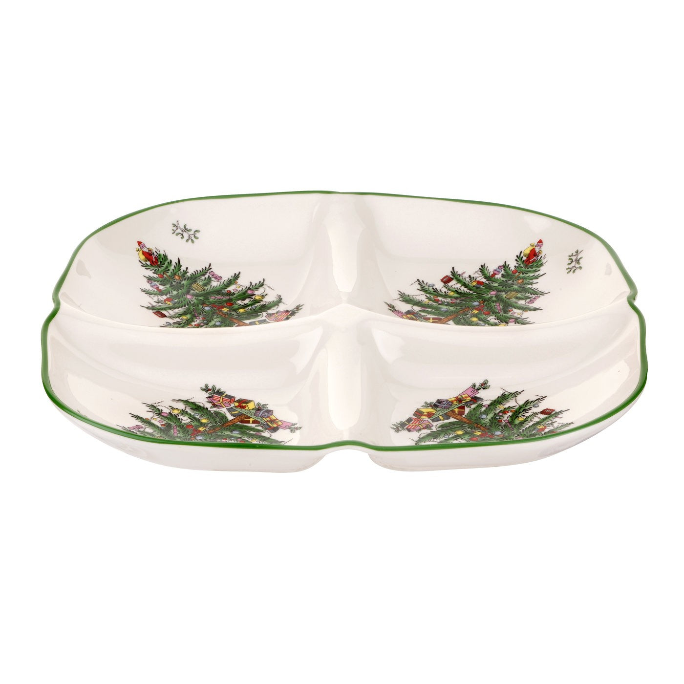 Spode Christmas Tree Sculpted 4 Section Tray