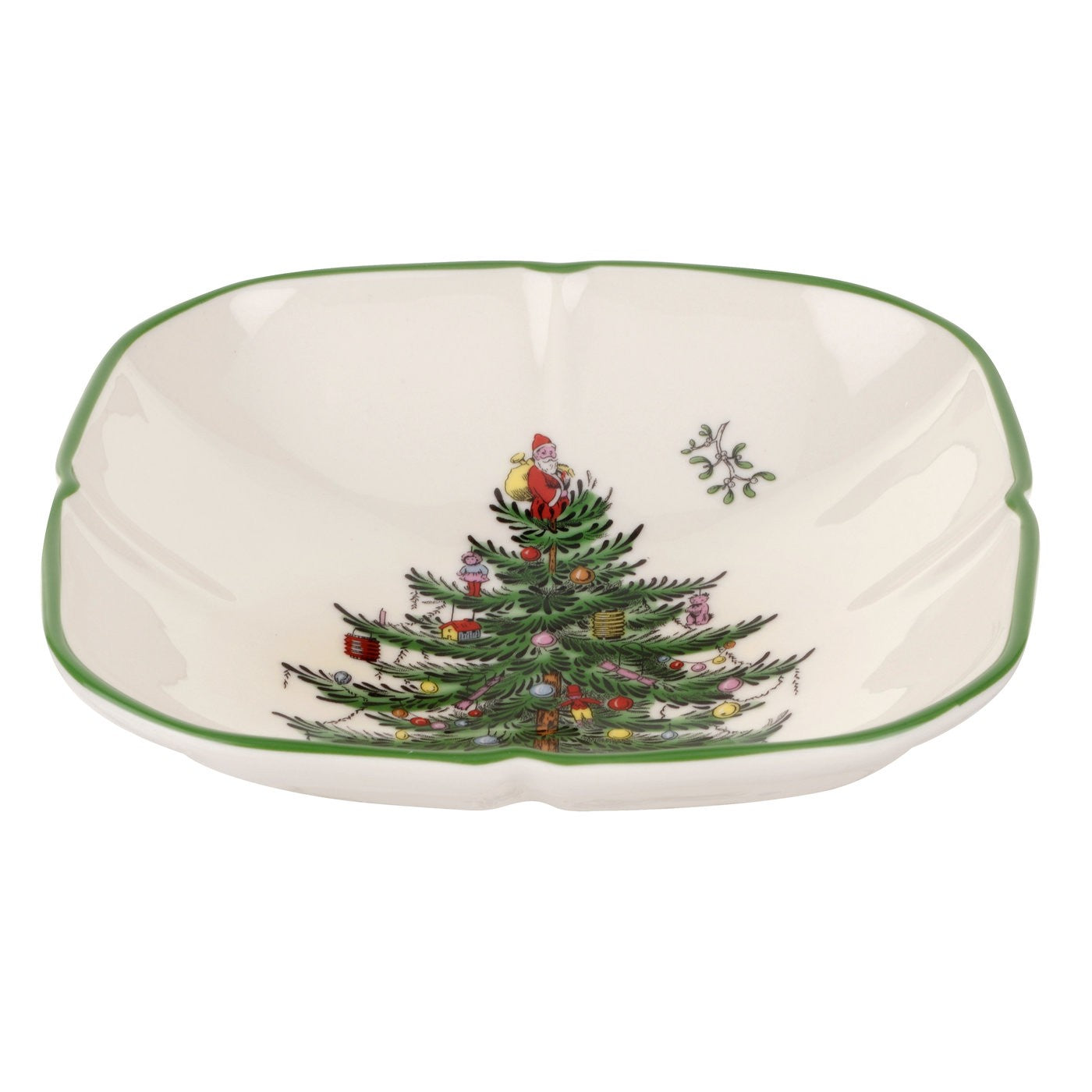 Spode Christmas Tree Sculpted Square Dish 5""