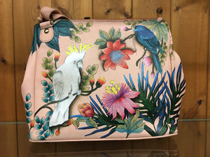 Anuschka Cockatoo Sunrise-Vintage Leather Tote