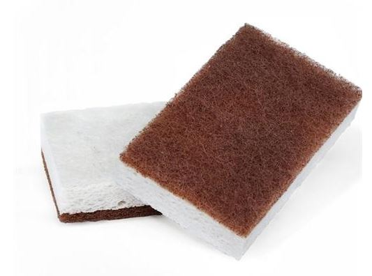 Full Circle Walnut 2 Pack Scrubber Sponge