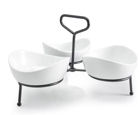 bia 3 bowl server with stand
