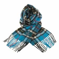 PK-Lambswool Scarf - Thompson Blue