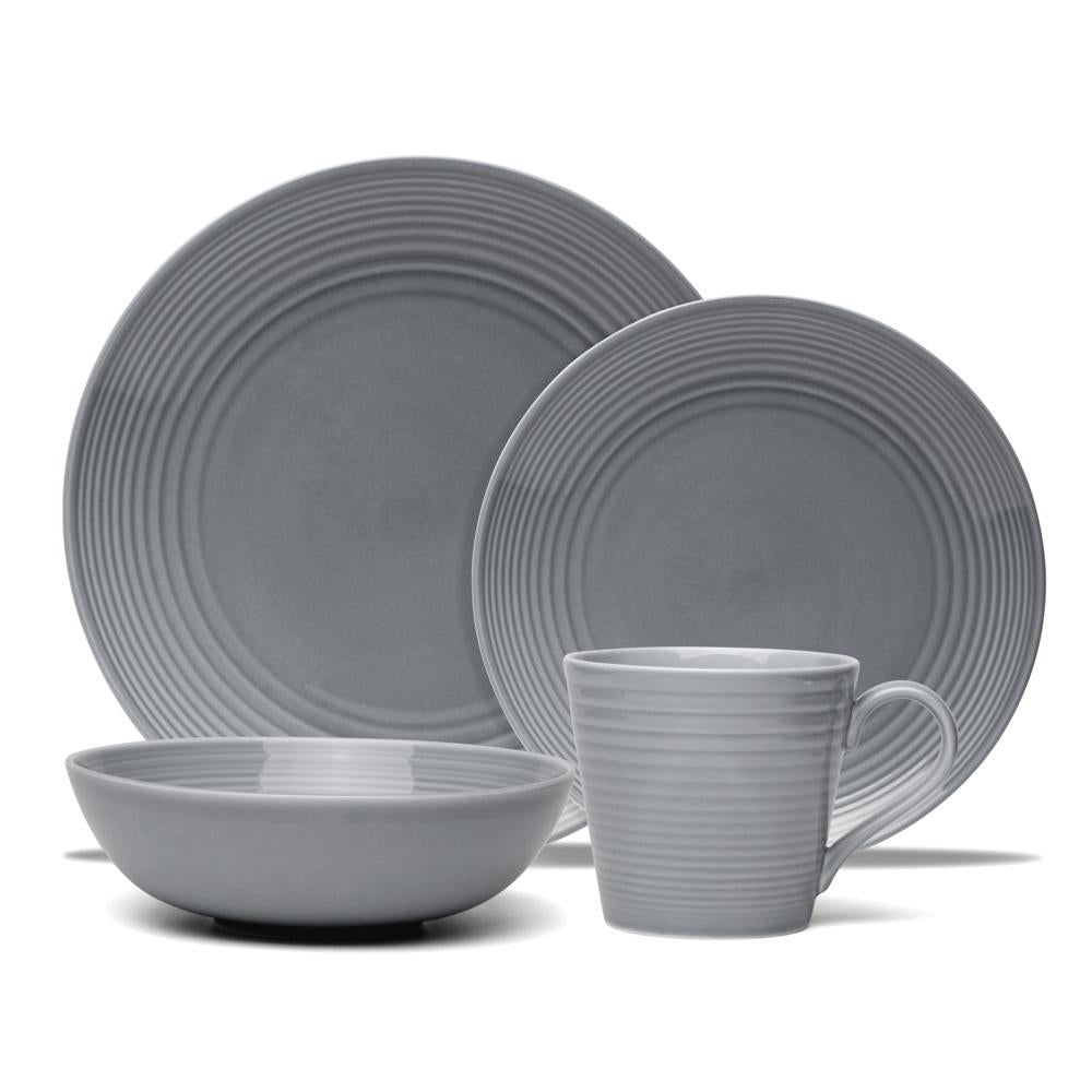 .Gordon Ramsay Maze Dark Grey 16 Piece Dinner Set
