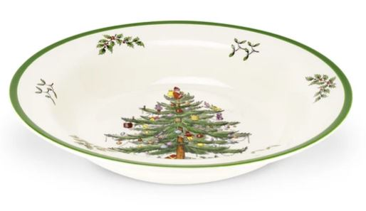 Spode Christmas Tree Soup Plate 9""