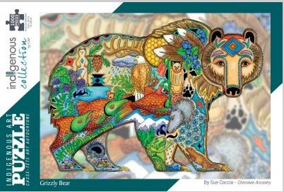 Indigenous Art Puzzle- Grizzly Bear