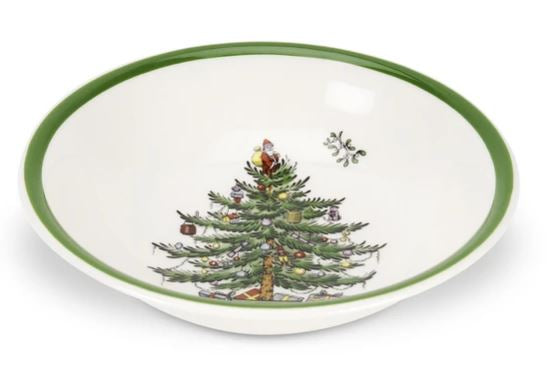 Spode Christmas Tree Cereal Bowl 8""
