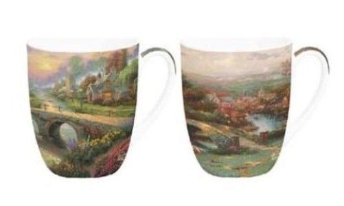 Thomas Kinkade Lamplight Village Mug Pair $28.50