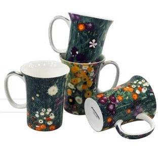 Klimt Flower Garden Set of 4 Mugs $49.99