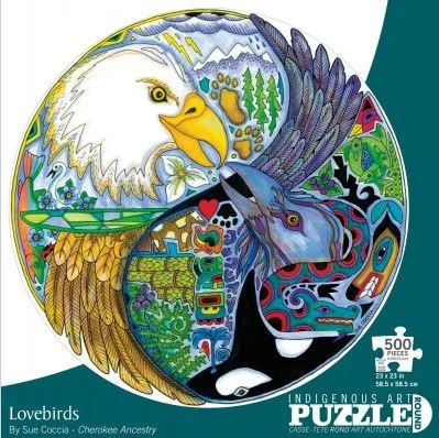 Indigenous Art Puzzle- Lovebirds