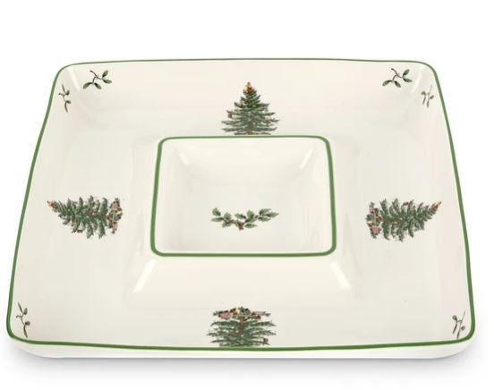 Spode Christmas Tree Chip & Dip