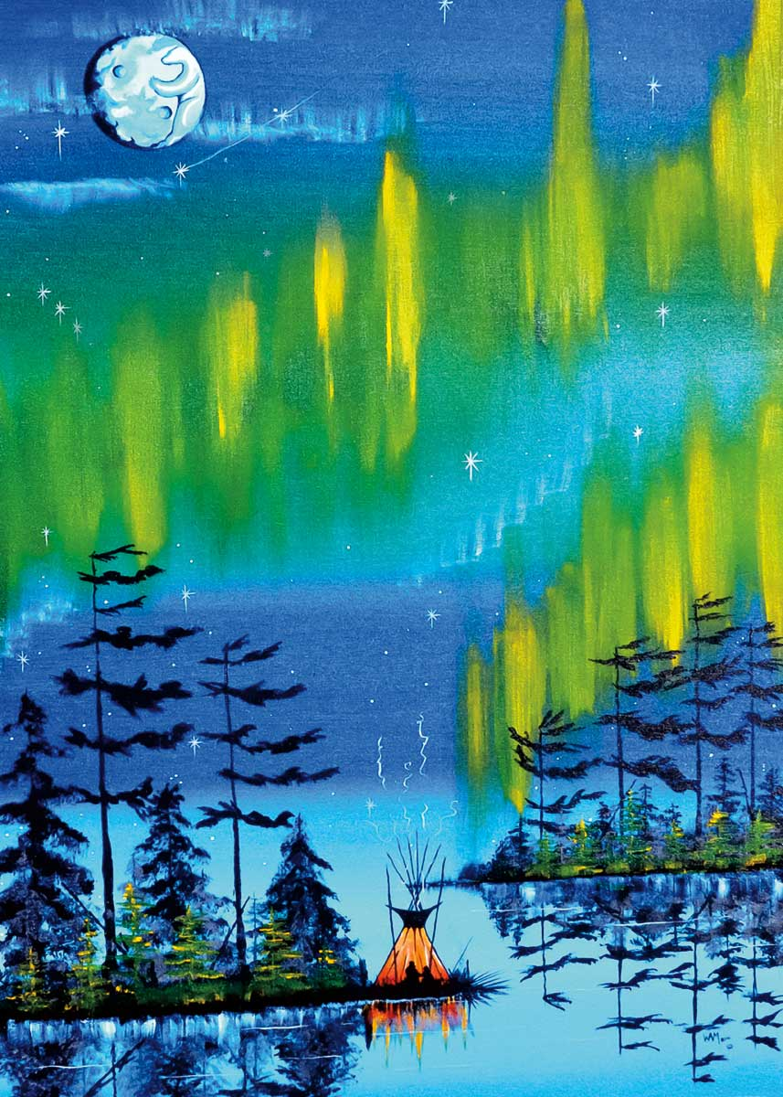 Indigenous Art Card - Northern Lights