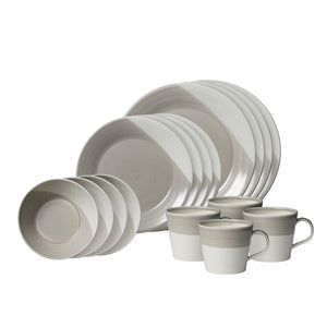 .Royal Doulton Bowls of Plenty Grey 16 piece set