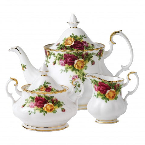 OLD COUNTRY ROSES 3 PIECE TEA SET