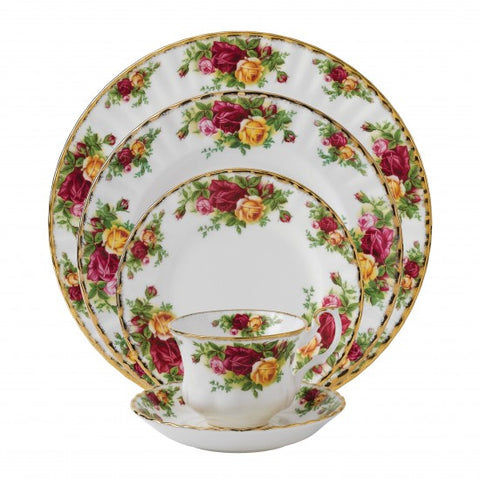 Old Country Roses 5 Piece Place Setting $130.00