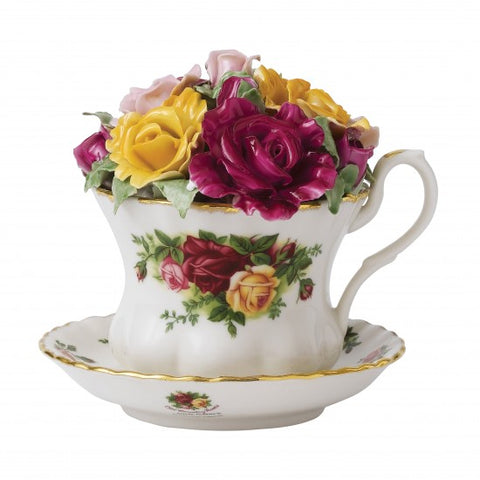 OLD COUNTRY ROSES MUSICAL TEACUP