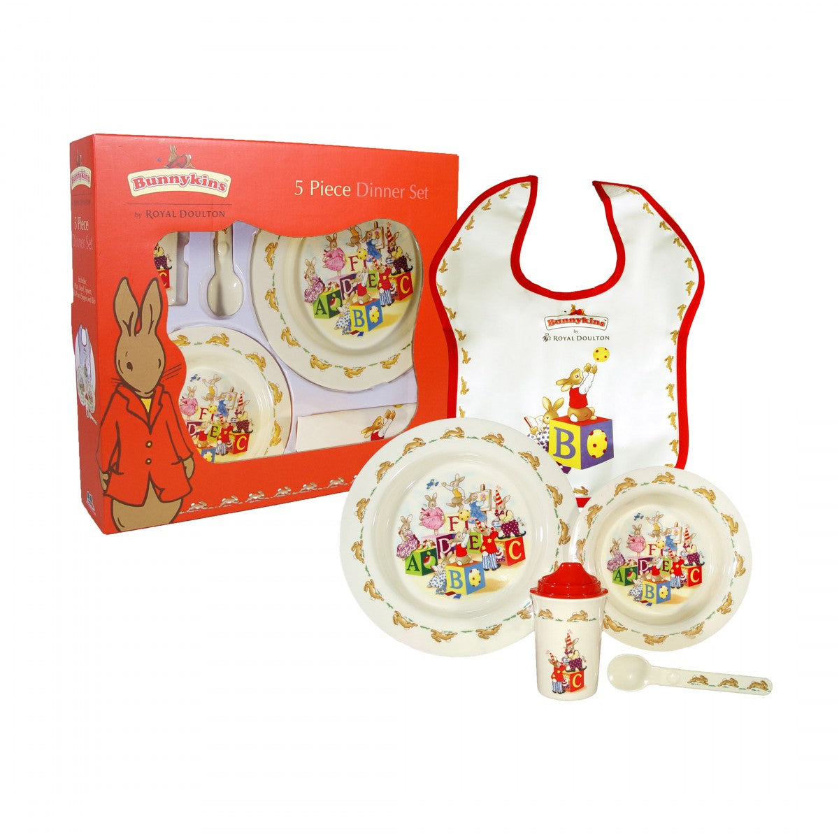 Royal Doulton Bunnykins 5 Piece Melamine Dinner Set