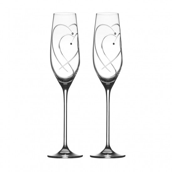 Royal Doulton Two Hearts Entwined Flutes