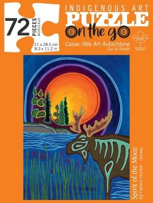 Indigenous Art Puzzle- Spirit Of The Mooz