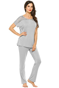 Ekouaer Midnight Ladies 2-Piece Modal Pajamas