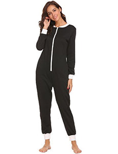 Ekouaer Women's Jumpsuit One Piece Non Footed Pajama Playsuit