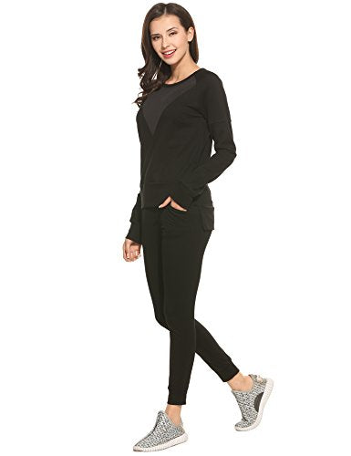 Ekouaer Womens Longsleeve High Low Sweatshirts