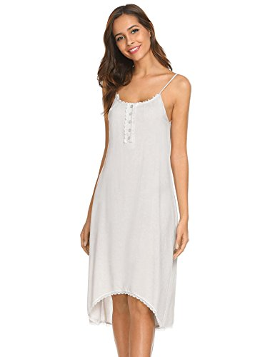Ekouaer Sexy Chemises Womens Soft V-Neck Sleepwear