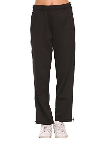 Ekouaer Women Sport Athletic Pants 2 StripesTrack Running