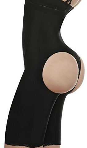 Ekouaer Womens Shapewear Butt Lifter Hi Waist Tummy Shaper Thigh Slimmer