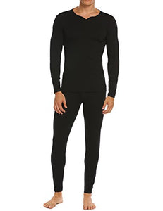 Ekouaer Mens Long Cotton Thermal Underwear Winter Base Layering Set S-XXL