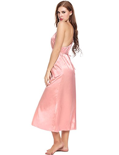 Ekouaer Sexy Nightshirts Satin Nightgown Chemises Slip Nightgown Sleepwear