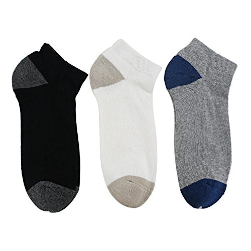 Ekouaer Women's Casual Thin Socks Quality Cotton Low Cut Athletic Socks Pack of 3