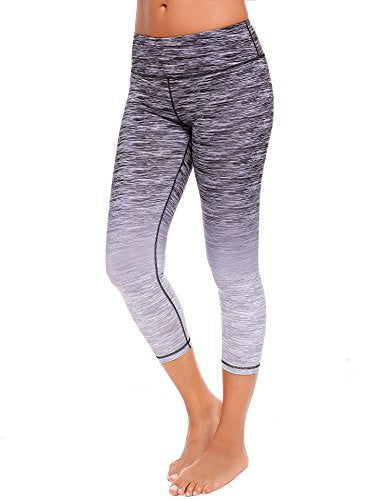 Ekouaer Women's Yoga Capris Pants Power Flex Gym Workout Yoga Leggings