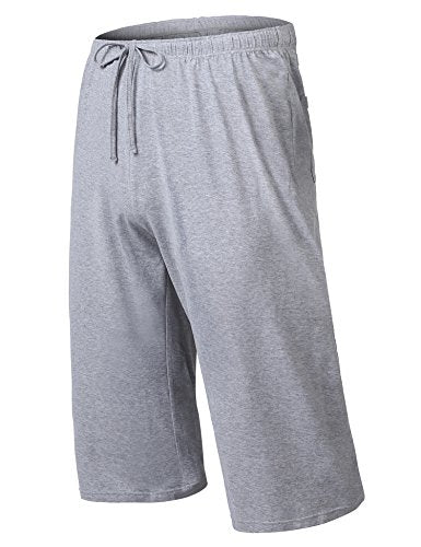 Ekouaer Men's Sleep Shorts Cotton Pajama Bottom Shorts Lounge Wear Comfortable Sleep Pants