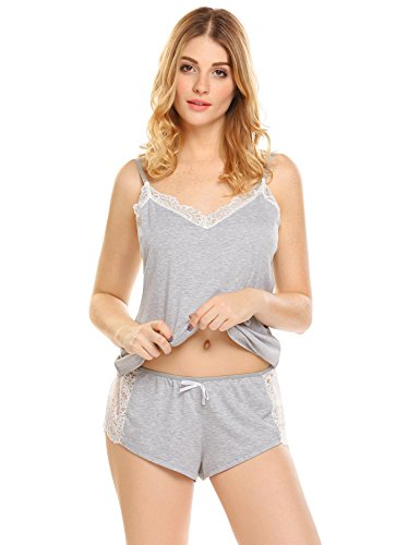 Ekouaer Sleepwear Women's Pajama Set Sexy Lingerie Cami and Short