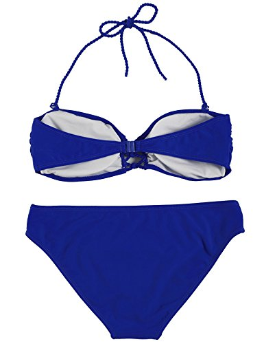 Ekouaer Sexy Bandeau Bikini Set Push Up Padded Swimwear Swimsuit For Women