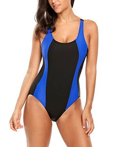 Ekouaer Competive Swimsuit One Piece Swimming Suit for Women
