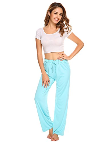 Ekouaer Women's Loose Comfy Drawstring Yoga Pants Casual Lounge Trousers