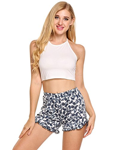 Ekouaer Womens Short Pajama Set Letter Print Cami Top Striped Shorts Sleepwear