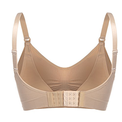 Ekouaer Women's Padded Maternity Nursing Bra with Full Sling