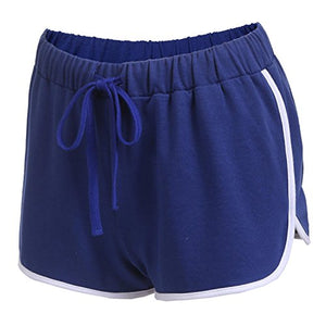Ekouaer Women's Pajama Sleep Shorts Dolphin Work Out Yoga Shorts (Blue, L)