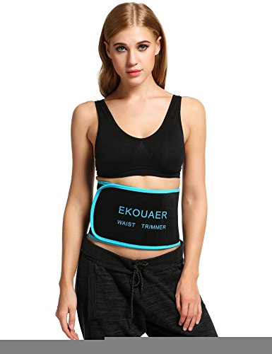 Ekouaer Waist Trimmer Men & Women Sweat Wrap Workout Enhancer Ab Slim Belt S-L