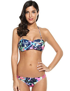 Ekouaer Monokin Swimsuits (Blue, X-Large)