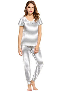 Ekouaer Women's Sleepwear Long Sleeve Pajama Set With PJ Pants