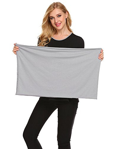 Ekouaer Women's Maternity Nursing Tops Long Sleeve Breastfeeding T-Shirt with Scarf