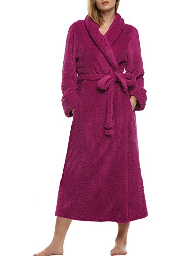 Ekouaer Women's Super Plush Microfiber Fleece Bathrobe Loungewear Robe