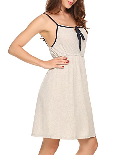 Ekouaer Women's Sleeveless Nightgown Sleep Dress Sleepwear
