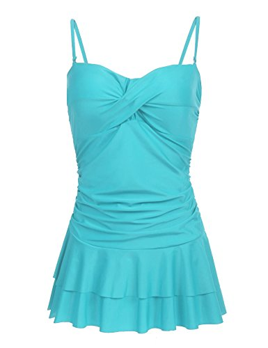 Ekouaer Women's Swimdress One Piece Skirtini Cover Up Swimsuits