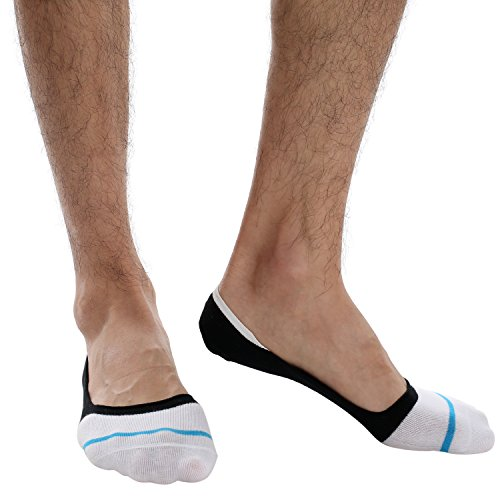 Ekouaer Men Cotton Low Cut Loafer Socks No Show Hidden Boat Breathable Socks(3 Pairs)