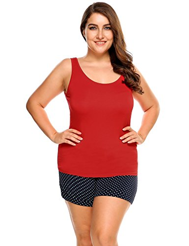 Ekouaer Women's Plus Size Tank Top Relaxed Flowy